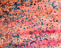 Blue Pink Yellow Colorful Drips and Splatters Watercolor Background Stock Images