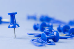 Blue pins royalty free stock photos