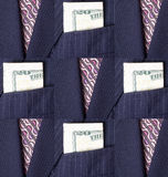 Business Suit Background and Design. Blue Pinstriped Men's Suit Jacket and Tie Background and Design Stock Photos
