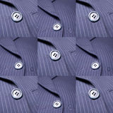 Business Suit Background and Design. Blue Pinstriped Men's Suit Jacket and Tie Background and Design Royalty Free Stock Photo