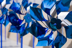 Blue pinwheels Royalty Free Stock Photos