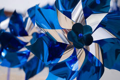 Blue pinwheels Royalty Free Stock Photo