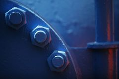 Blue pipe Royalty Free Stock Photo