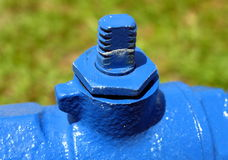 Blue Pipe Stock Photography