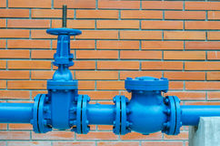 Blue pipe line Royalty Free Stock Photography
