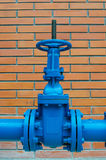 Blue pipe line Stock Photo