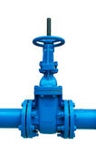 Blue pipe line Royalty Free Stock Image
