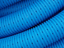 Blue pipe lines. Close-up of blue pipe lines stock photos