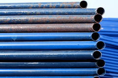 Blue pipe rusted Stock Photos