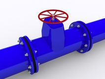 Blue pipeline. On white background Royalty Free Stock Photo