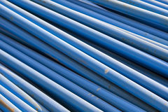 Blue Pipes. To be used for building construction Royalty Free Stock Photos