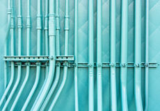 Blue pipes Royalty Free Stock Photos