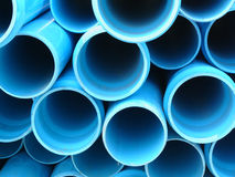 Blue pipes royalty free stock image
