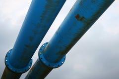 Blue pipework Stock Photos