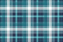 Blue pixel check tartan seamless fabric texture Stock Images
