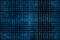 Blue pixel mosaic background Stock Photo