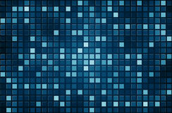 Blue pixel mosaic background Royalty Free Stock Images