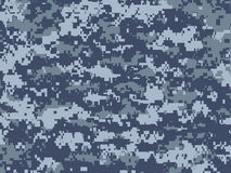 Blue pixels camouflage Royalty Free Stock Image