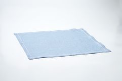 Blue place mat Stock Image