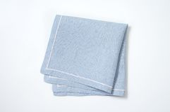 Blue place mat. On white background Stock Photo