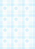Blue plaid. With ornaments, editable. can use like baby wallpaper or wrap royalty free illustration