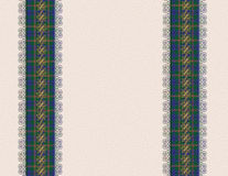 Blue plaid borders invitation Stock Photos