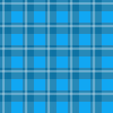 Blue plaid fabric. Sample pretty seamless bright blue checkered fabric Stock Images