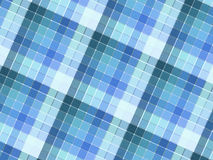 Blue plaid fabric Royalty Free Stock Photography