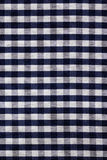 Blue plaid fabric texture background Royalty Free Stock Photos