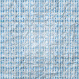 Blue plaid. New seamless pattern with geometric ornament on paper texture Royalty Free Stock Photo