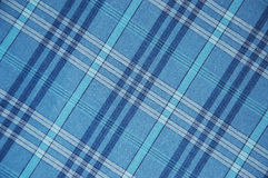 Blue plaid pattern. Close up Royalty Free Stock Photo