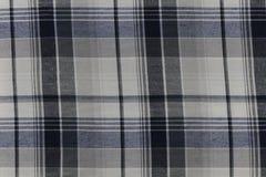 Blue Plaid Pattern on Fabric.  Royalty Free Stock Photos