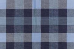 Blue Plaid Pattern on Fabric.  Royalty Free Stock Photo