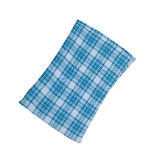 Blue plaid pillow Royalty Free Stock Images