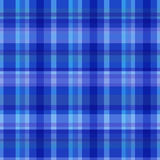 Blue plaid tartan fabric vector patterned clothing. Fabric texture Royalty Free Stock Photography