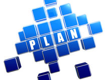 Blue plan in blocks Royalty Free Stock Photography