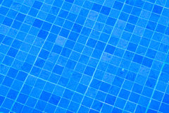 Blue planches in the pool with water royalty free stock photography