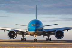 Blue plane Stock Photos