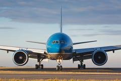 Blue plane Stock Photos