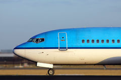 Blue plane close up of the nose Stock Image
