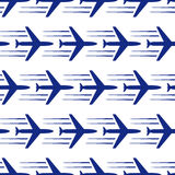 Blue planes seamless. On white background. vector illustration Stock Images