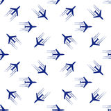 Blue planes seamless. On white background. vector illustration Royalty Free Stock Images