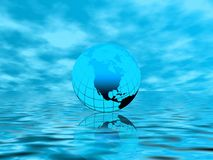 Blue planet. Abstraction  illustration with planet Earth Stock Photos