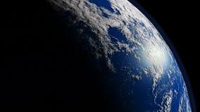 Blue planet. Earth 3D render vector illustration