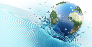 The blue planet Royalty Free Stock Photo
