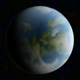 Blue planet Stock Image