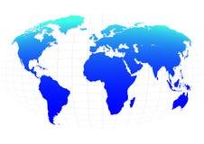Blue planet. On the mesh stock illustration