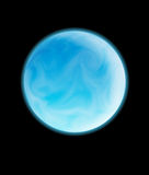 Blue planet. A beautiful blue planet hovering in space Stock Images
