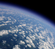 Blue planet. View of our blue planet from an airplane Royalty Free Stock Image