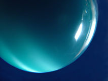 Blue Planet. Close up of Blue 'tiger - Eye' sphere Royalty Free Stock Photography